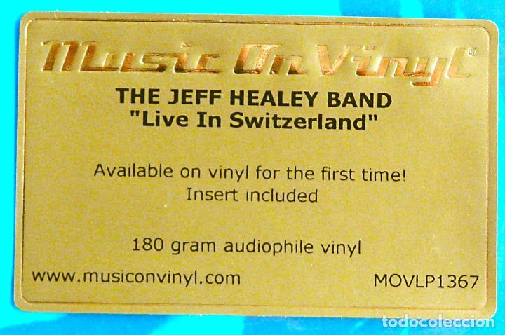 Discos de vinilo: THE JEFF HEALEY BAND - LIVE IN SWITZERLAND 180g 2LP Audiófilo Music On Vinyl Precintado - Foto 3 - 72150207