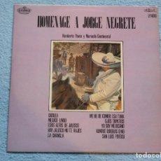 Discos de vinilo: HUMBERTO PAVON Y MARIACHI CONTINENTAL,HOMENAJE A JORGE NEGRETE DEL 71. Lote 72188327