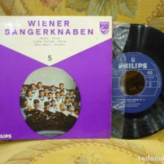 Discos de vinilo: WIENWE SÄNGERKNABEN (NIÑOS CANTORES DE VIENA). SINFÓNICA DE VIENA-FRIEDRICH BRENN. MOZART-SCHUBERT.. Lote 72212391