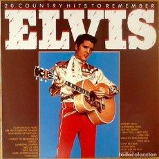 Discos de vinilo: ELVIS PRESLEY : 20 COUNTRY HITS TO REMEMBER [DEU 1987] LP/COMP. Lote 72218711