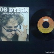 Discos de vinilo: BOB DYLAN BABY, STOP CRYING. Lote 72219611