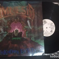 Discos de vinilo: LP DISCO VINILO AMNESIA UNKNOWN ENTITY - MAJOR RECORDS 1991 - THRASH METAL HEAVY. Lote 72227695