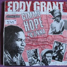 Disques de vinyle: MAXI - EDDY GRANT - GIMME HOPE JO'ANNA /SAY HELLO TO FIDEL / LIVING ON THE FRONT. Lote 72245427
