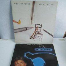 Discos de vinilo: PAUL MCCARTNEY. DOS DISCOS VINILO: PIPES OF PEACE. BROAD STREET. VER FOTOGRAFIAS ADJUNTAS. Lote 72264139
