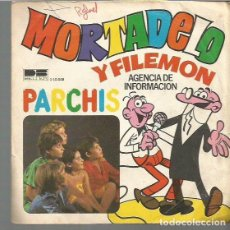 Discos de vinilo: PARCHIS SINGLE SELLO BELTER AÑO 1979 EDITADO EN ESPAÑA VINILO AZUL, MORTADELO Y FILEMON. Lote 72265827