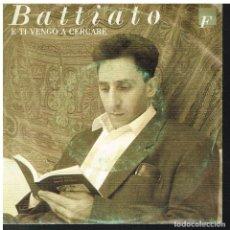 Discos de vinilo: FRANCO BATTIATO - E TI VENGO A CERCARE / SECONDO IMBRUNIRE - SINGLE 1988. Lote 72285247