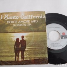 Dischi in vinile: I SANTO CALIFORNIA-SINGLE DOLCE AMORE MIO-1976. Lote 72313127
