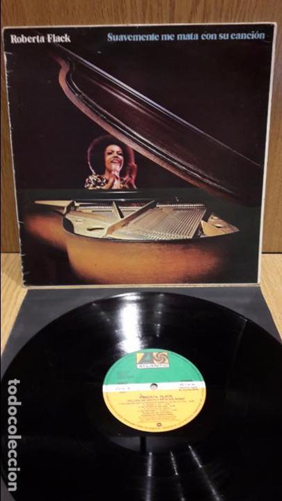 ROBERTA FLACK. SUAVEMENTE ME MATA CON SU CANCIÓN. LP / ATLANTIC - 1982 / MBC. ***/*** (Música - Discos - LP Vinilo - Funk, Soul y Black Music)