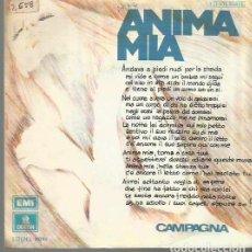 Discos de vinilo: CAMPAGNA SINGLE SELLO EMI-ODEON AÑO 1974 EDITADO EN ESPAÑA. Lote 72319675
