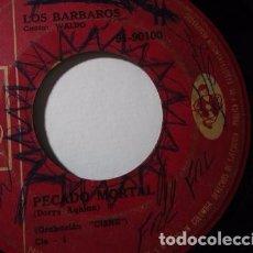 Discos de vinilo: LOS BARBAROS WALDO PECADO MORTAL VOLVERAS POR MI SINGLES S40 COLOMBIA G. Lote 72337871