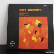 Discos de vinilo: GETZ GILBERTO MITICOS DEL JAZZ = COMO NUEVO. Lote 72353483