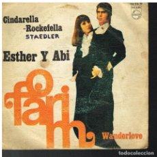 Discos de vinilo: ESTHER Y ABI OFARIM - CINDERELLA - WANDERLOVE - SINGLE 1968. Lote 72359887