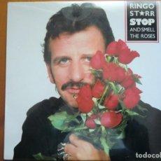 Discos de vinilo: LP RINGO STARR: STOP AND SMELL THE ROSES (1.981) ¡NUEVO Y PRECINTADO! BEATLES. USA. Lote 72389891