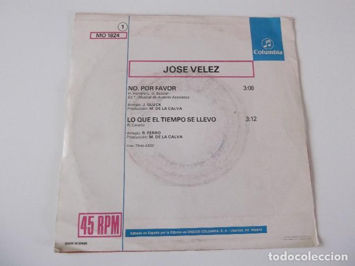 Discos de vinilo: JOSE VELEZ - No, por favor - Foto 2 - 72393439