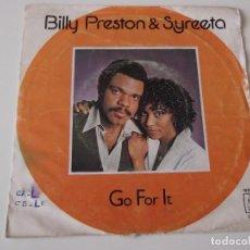 Discos de vinilo: BILLY PRESTON & SYREETA - GO FOR IT. Lote 72397179