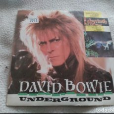 Discos de vinilo: SINGLE DAVID BOWIE UNDERGROUND 1986. Lote 72403035