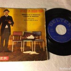 Discos de vinilo: DISCO SINGLE VINILO DE LA PELICULA EL REY DE NUEVA YORK CHARLES CHAPLIN 1957. Lote 72405479