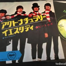 Discos de vinilo: THE BEATLES ( ACT NATURALLY /YESTERDAY) SINGLE JAPAN AR-1437 (EPI4). Lote 72405659