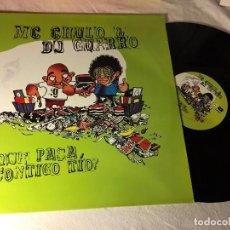 Discos de vinilo: DISCO MAXI SINGLE MC CHULO DJ GUARRO QUE PASA CONTIGO TIO BLANCO Y NEGRO. Lote 72408843