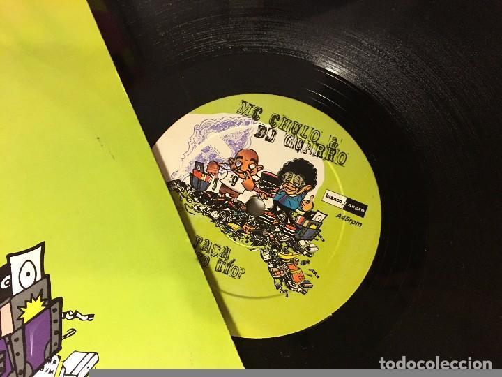 Discos de vinilo: DISCO MAXI SINGLE MC CHULO DJ GUARRO QUE PASA CONTIGO TIO BLANCO Y NEGRO - Foto 2 - 72408843