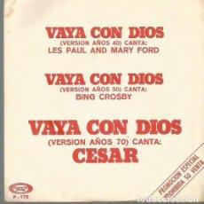 Discos de vinilo: LES PAUL AND MARY FORD, BING CROSBY Y CESAR EP SELLO MOVIEPLAY AÑO 1973 EDITADO EN ESPAÑA . Lote 72411015