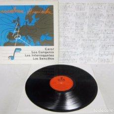 Discos de vinilo: BARCELONA HUMEDA - LP - LOS SENCILLOS - CAROL - LOS INTERROGANTES - LOS CANGUROS - DISCAZO N MINT. Lote 160077240
