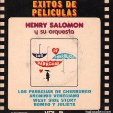 Disques de vinyle: HENRY SALOMON Y SU ORQUESTA-EXITOS DE PELICULAS VOL 5 EP BELTER RF-1603. Lote 72442407