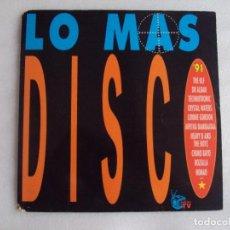 Discos de vinilo: LO MAS DISCO '91, VARIOS GRUPOS, DOBLE LP EDICION ESPAÑOLA 1991 ARIOLA RECODS. Lote 72444239