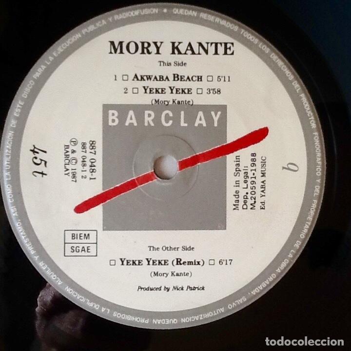 """Discos de vinilo: MORY KANTE : YE KE YE KE [ESP 1988] 12"""" - Foto 3 - 72451283"""