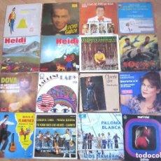 Discos de vinilo: LOTE 16 SINGLES / EPS VARIOS ESTILOS Y ÉPOCAS.. Lote 72682407