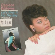 Dischi in vinile: DENIECE WILLIAMS / LET'S HEAR IT FOR THE BOY (BSO FOOTLOOSE) SINGLE PROMO 1984) SOLO CARA A. Lote 72683555