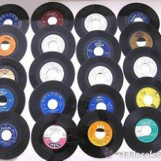 Discos de vinilo: LOTE 20 VINILOS SINGLES EPS SIN CARÁTULA, SÓLO VINILO: JOHNNY HALLYDAY, FRANCIS CABREL, PERET ETC.. Lote 72683719