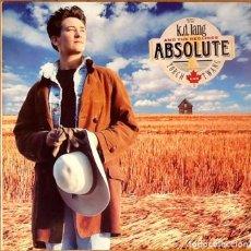 Discos de vinilo: K.D. LANG & THE RECLINES : ABSOLUTE TORCH AND TWANG [DEU 1989] LP. Lote 72684447