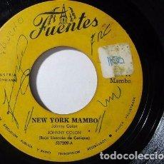 Discos de vinilo: JOHNNY COLON COSA PA TI NEW YORK MAMBO COLOMBIA DISCOS FUENTES SINGLE S41 G+. Lote 72715787