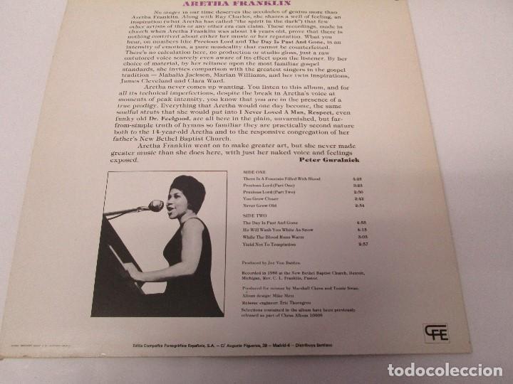 Discos de vinilo: ARETHA FRANKLIN. GOSPEL. DISCO VINILO. VER FOTOGRAFIAS ADJUNTAS - Foto 6 - 72743155