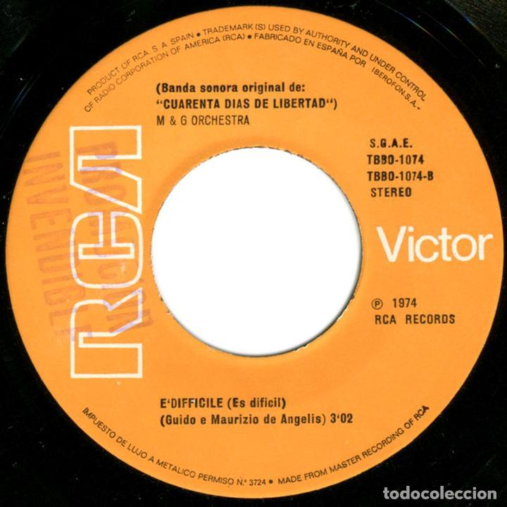 Discos de vinilo: Guido, Maurizio De Angelis – Verde, BSO Cuarenta Dias De Libertad - Sg Promo Spain 1976 - RCA Victor - Foto 4 - 72748351