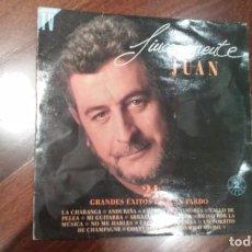 Discos de vinilo: JUAN PARDO-SINCERAMENTE JUAN.DOBLE LP. Lote 72805823
