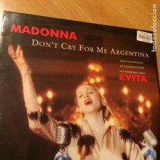 Discos de vinilo: MAXI VINILO MADONNA DON,T CRY FOR ME ARGENTINA EVITA. Lote 72810767