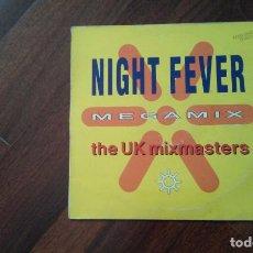 Discos de vinilo: THE UK MIXMASTERS-NIGHT FEVER MEGAMIX.MAXI. Lote 72856119