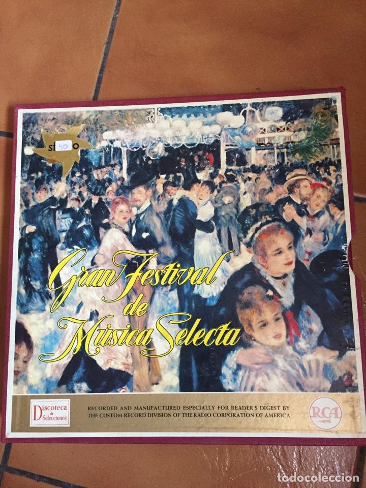 COLECCION GRAN FESTIVAL DE MUSICA SELECTA. 12 DISCOS LP CON SU ESTUCHE Y LIBRETO DE 25 PAGINAS (Música - Discos - LP Vinilo - Clásica, Ópera, Zarzuela y Marchas)