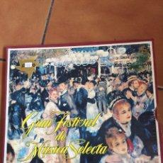 Discos de vinilo: COLECCION GRAN FESTIVAL DE MUSICA SELECTA. 12 DISCOS LP CON SU ESTUCHE Y LIBRETO DE 25 PAGINAS. Lote 133239719