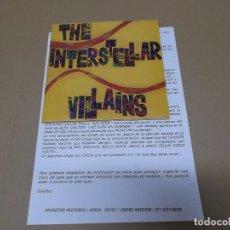 Discos de vinilo: THE INTERSTELLAR VILLAINS (SN) BIG HEAD AÑO 1991 – PORTADA ABIERTA + HOJA PROMOCIONAL. Lote 72891387
