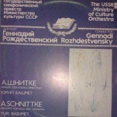 Discos de vinilo: A. SCHNITTKE- CONCERTO FOR VIOLA AND ORCHESTRA .EDICION RUSA. Lote 72911527