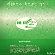 Disques de vinyle: LP DISCO TEST Nº 1 ( HI-FI CLUB DE ESPAÑA ). Lote 72922559