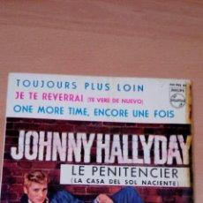 Discos de vinilo: JOHNNY HALLYDAY - LE PENITENCIER -. Lote 72923327