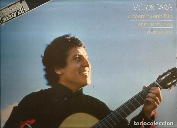 DOBLE LP VICTOR JARA (EL CIGARRITO, CANTO LIBRE, ABRE TU VENTANA, EL ARADO, ETC) (Música - Discos - LP Vinilo - Grupos y Solistas de latinoamérica)