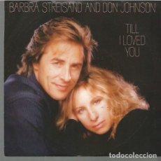 Discos de vinilo: BARBRA STREISAND SINGLE SELLO CBS AÑO 1988 EDITADO EN USA.. Lote 72927071