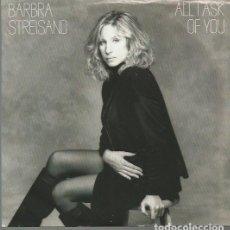 Discos de vinilo: BARBRA STREISAND SINGLE SELLO CBS AÑO 1988 EDITADO EN USA.. Lote 72927119