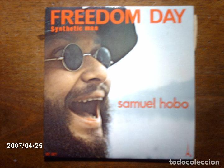 SAMUEL HOBO - JEAN MICHEL JARRE - FREEDOM DAY + SYNTHETIC MAN (Música - Discos - Singles Vinilo - Electrónica, Avantgarde y Experimental)