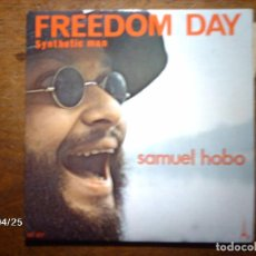 Discos de vinilo: SAMUEL HOBO - JEAN MICHEL JARRE - FREEDOM DAY + SYNTHETIC MAN . Lote 72929087